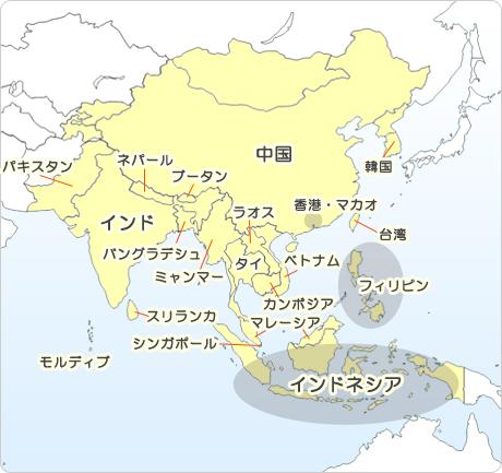 すべての講義 アジア地図国名入り : 国・地域別に感染症の流行状況 ...