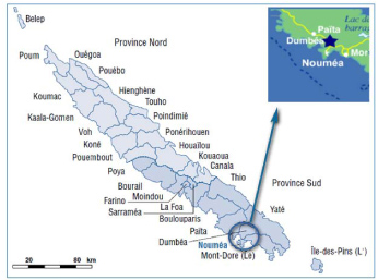 図.北部州の地図