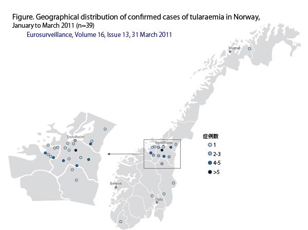 図.ノルウェーの地図