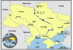 図.ウクライナの地図