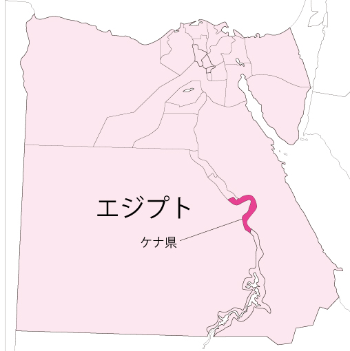 図.エジプトの地図