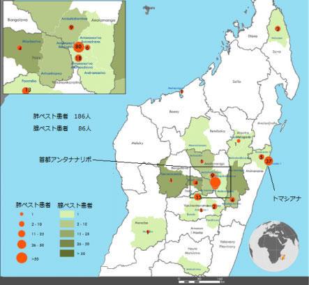 図.マダガスカルにおけるペスト患者数