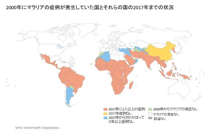 マラリアの流行地域